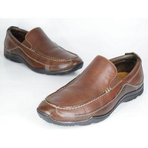 Cole Haan Hughes Venetian II Brown Leather Loafers